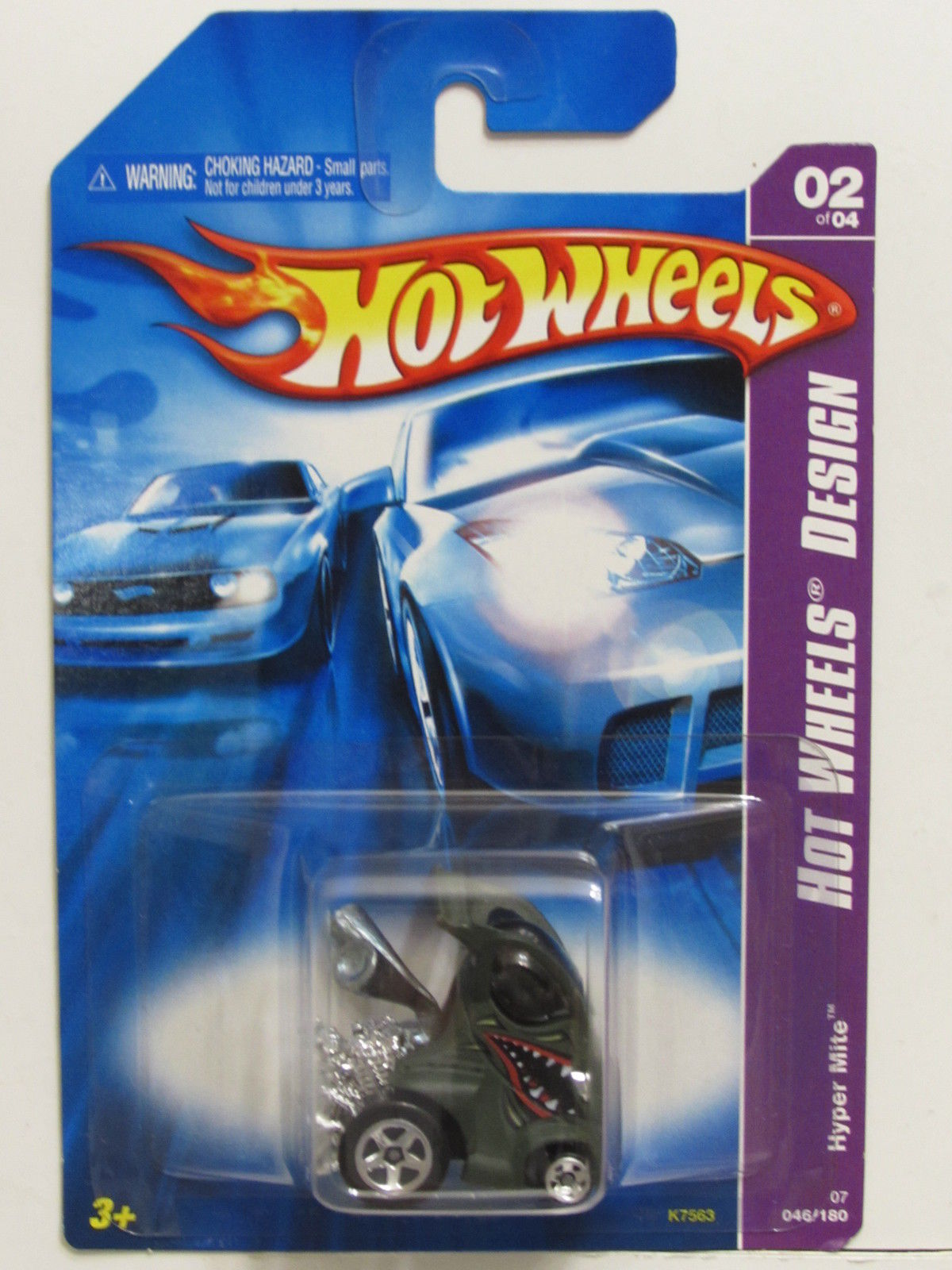 HOT WHEELS 2007 HW DESIGNS HYPER MITE GREEN
