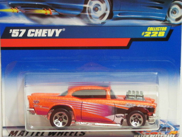 HOT WHEELS 2000 '57 CHEVY COLLECT. #228 ORANGE