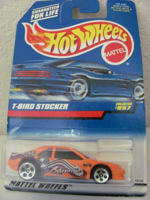 HOT WHEELS 1998 #857 T-BIRD STOCKER ORANGE!!!