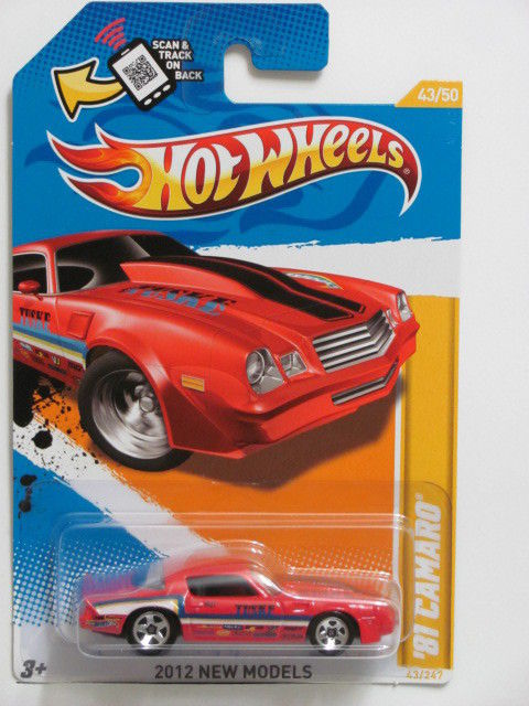 HOT WHEELS 2012 NEW MODELS #43/50 '81 CAMARO W/ SCAN & TRACK