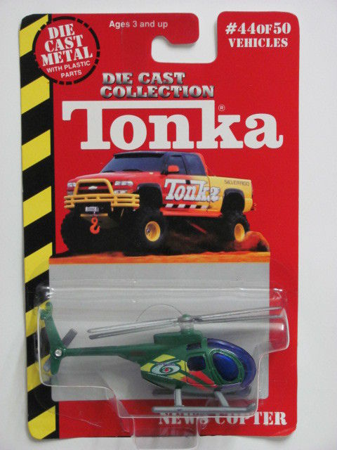 MAISTO TONKA #44 OF 50 DIE CAST METAL NEWS COPTER
