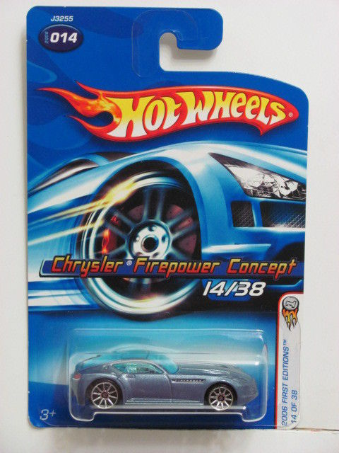 HOT WHEELS 2006 FIRST EDITIONS CHRYSLER FIREPOWER CONCEPT #014 E+