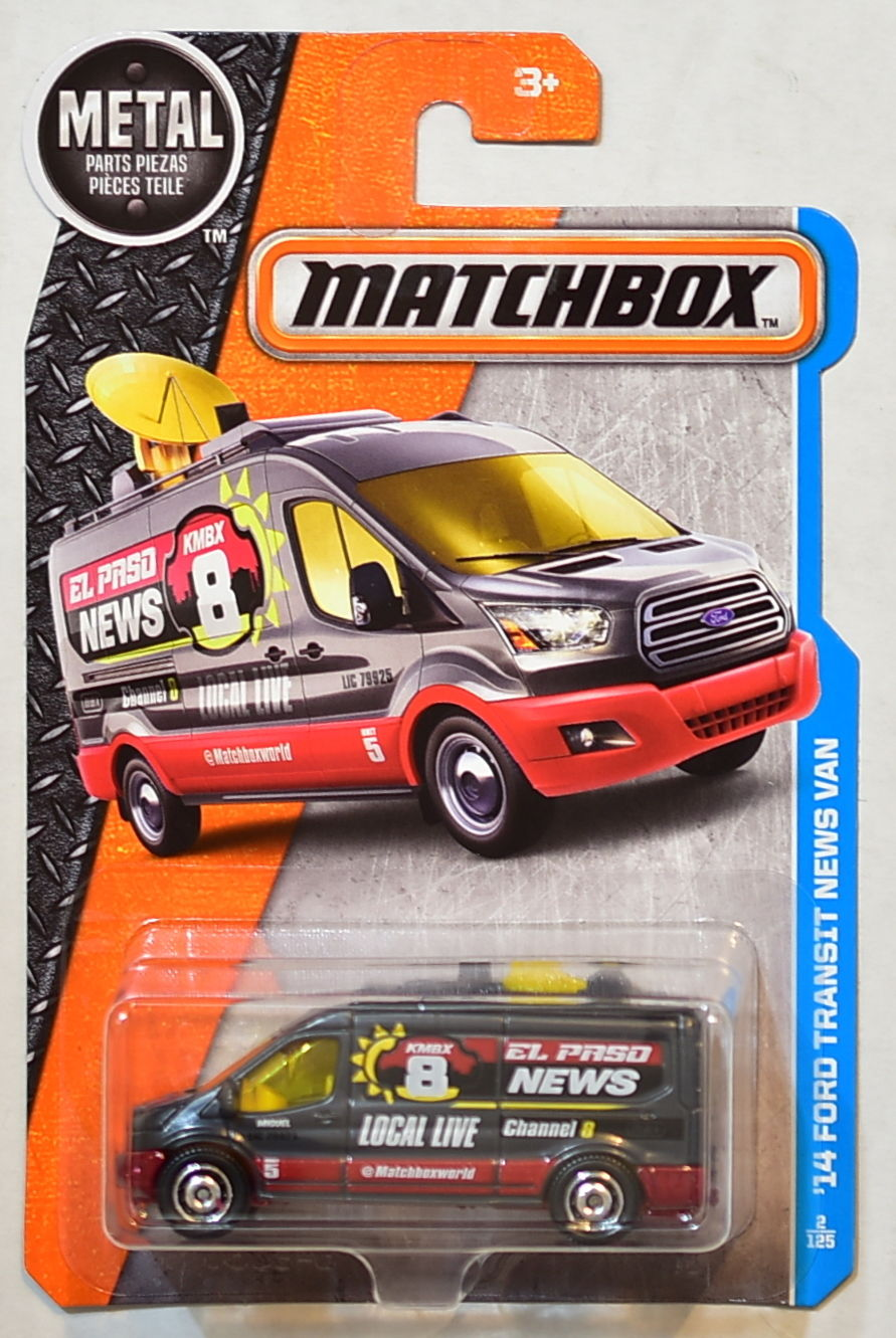 MATCHBOX 2016 METAL PARTS PIEZAS '24 FORD TRANSIT NEWS VAN