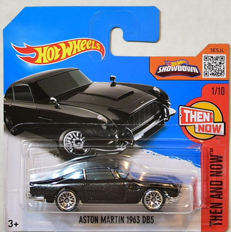 HOT WHEELS 2016 HW THEN AND NOW ASTON MARTIN 1963 DB5 SHORT CARD