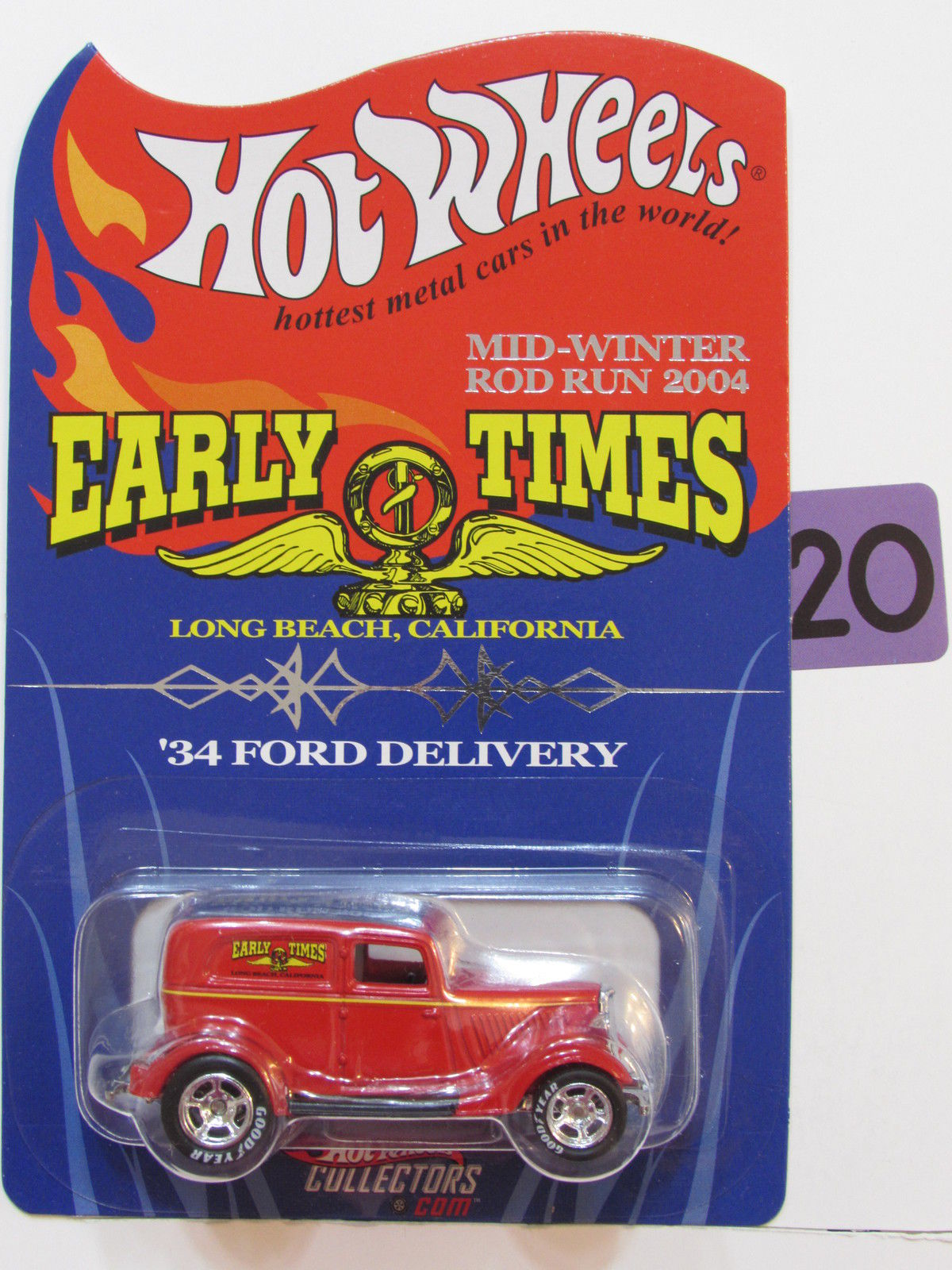 HOT WHEELS EARLY TIMES '34 FORD DELIVERY MID-WINTER ROD RUN 2004