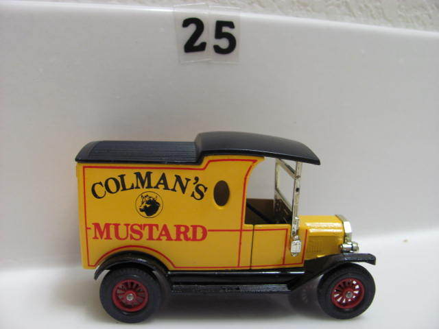 MATCHBOX MODELS OF YESTERYEAR Y-12 1912 FORD MODEL T ENGLAND COLMAN'S MUSTARD
