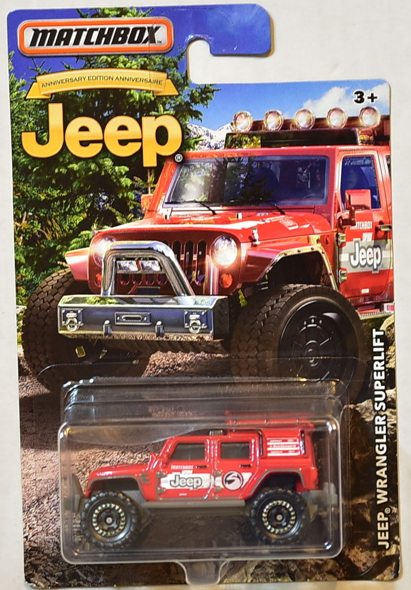 MATCHBOX JEEP 2016 JEEP WRANGLER SUPERLIFT RED