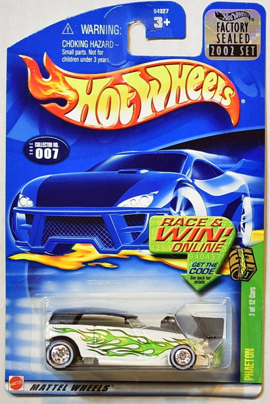 HOT WHEELS 2002 TREASURE HUNT PHAETON #007 FACTORY SEALED