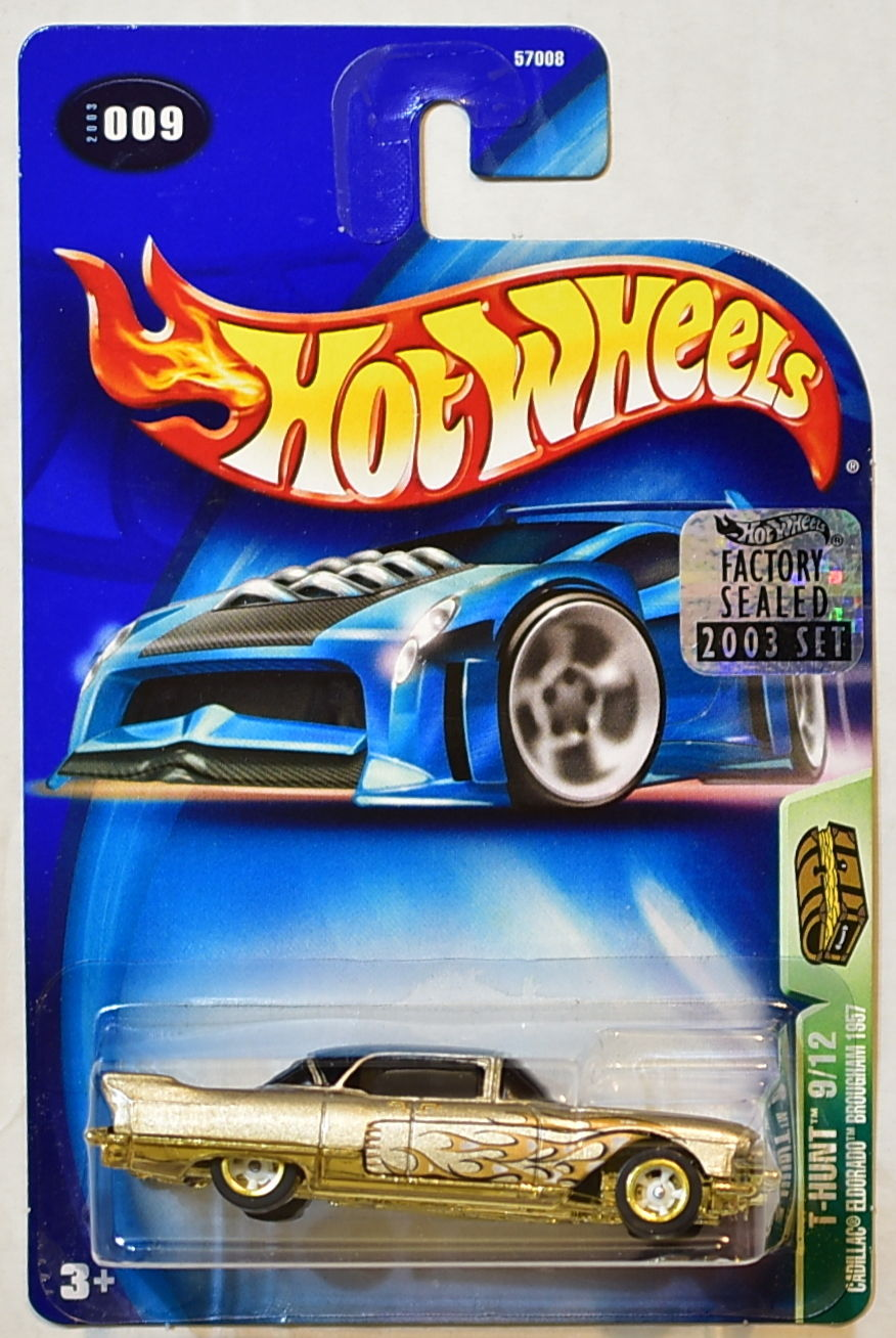 HOT WHEELS 2003 TREASURE HUNT CADILLAC ELDORADO BROUGHAM 1957 FACTORY SEALED