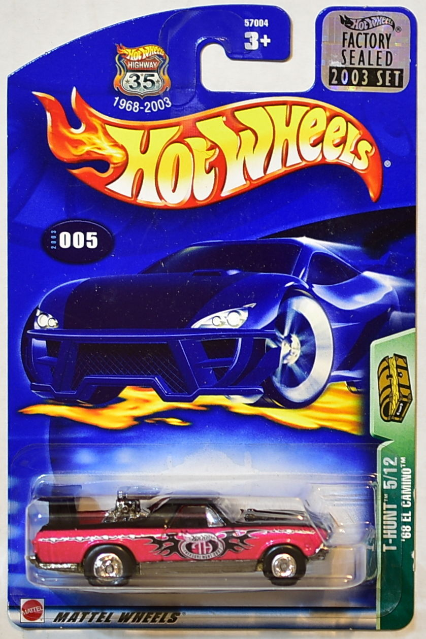 HOT WHEELS 2003 TREASURE HUNT '68 EL CAMINO #005 FACTORY SEALED