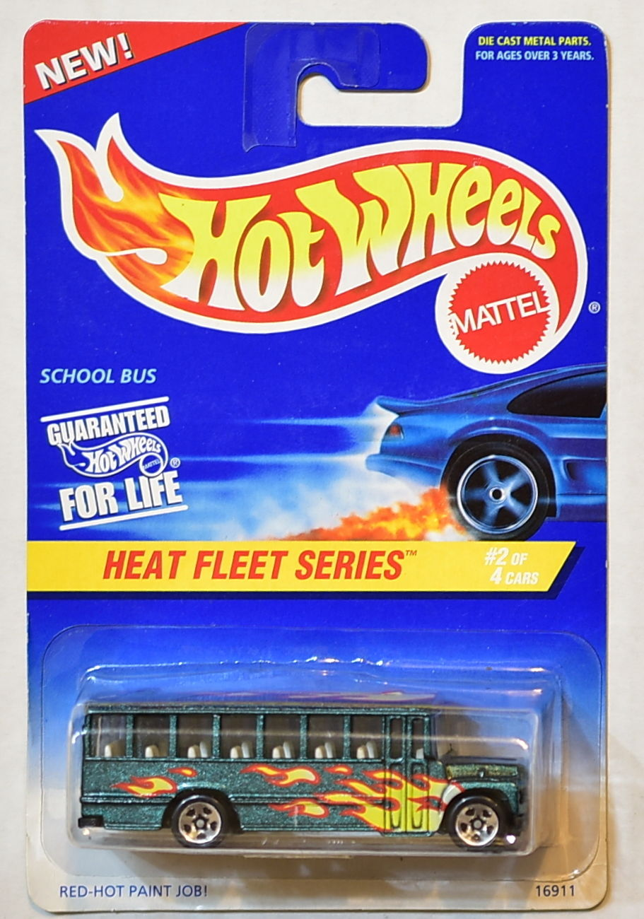 HOT WHEELS 1996 HEAT FLEET SERIES #538 SCHOOL BUS
