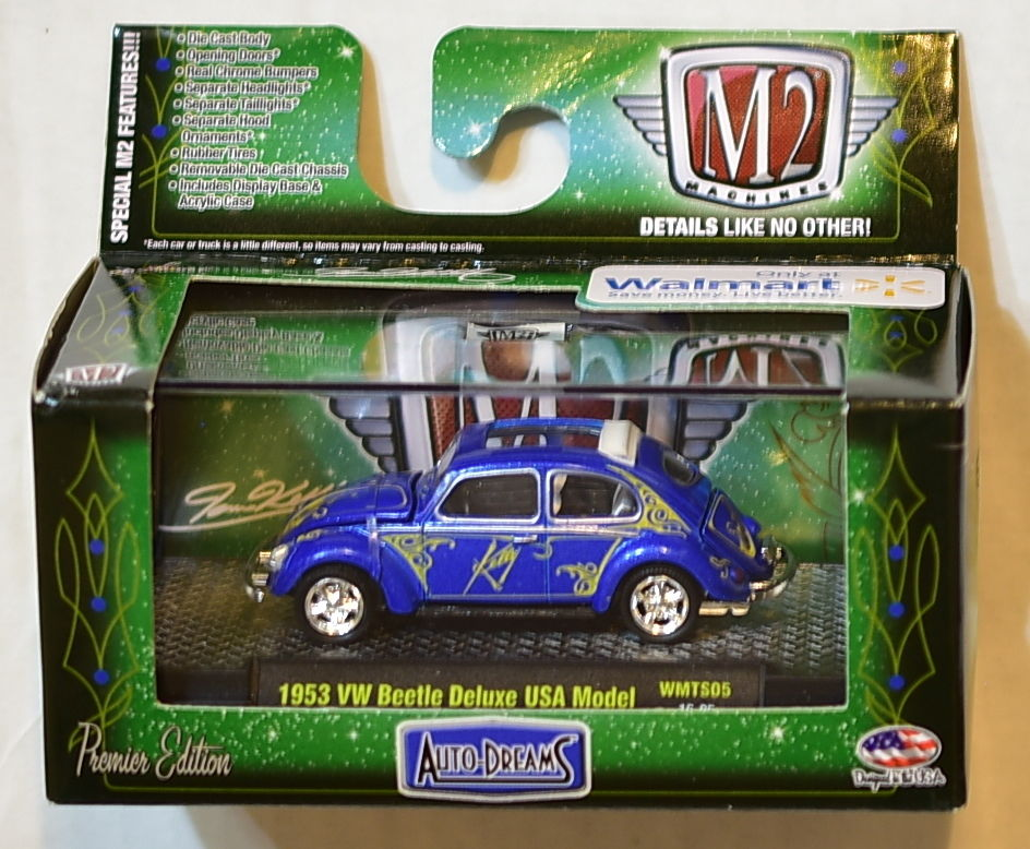 M2 MACHINES AUTO-DREAMS 1953 VW BEETLE DELUXE USA MODEL WALMART