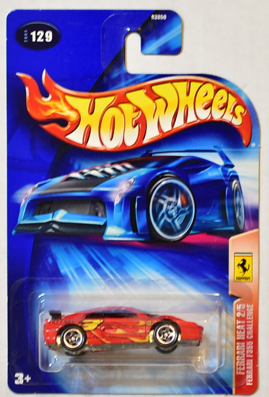 HOT WHEELS 2004 FERRARI HEAT 2/5 F355 CHALLENGE #129 W/ 5 SP WHEELS