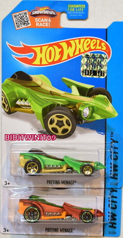HOT WHEELS 2015 HW CITY PREYING MENACE COLOR VARIATION FACTORY SEALED