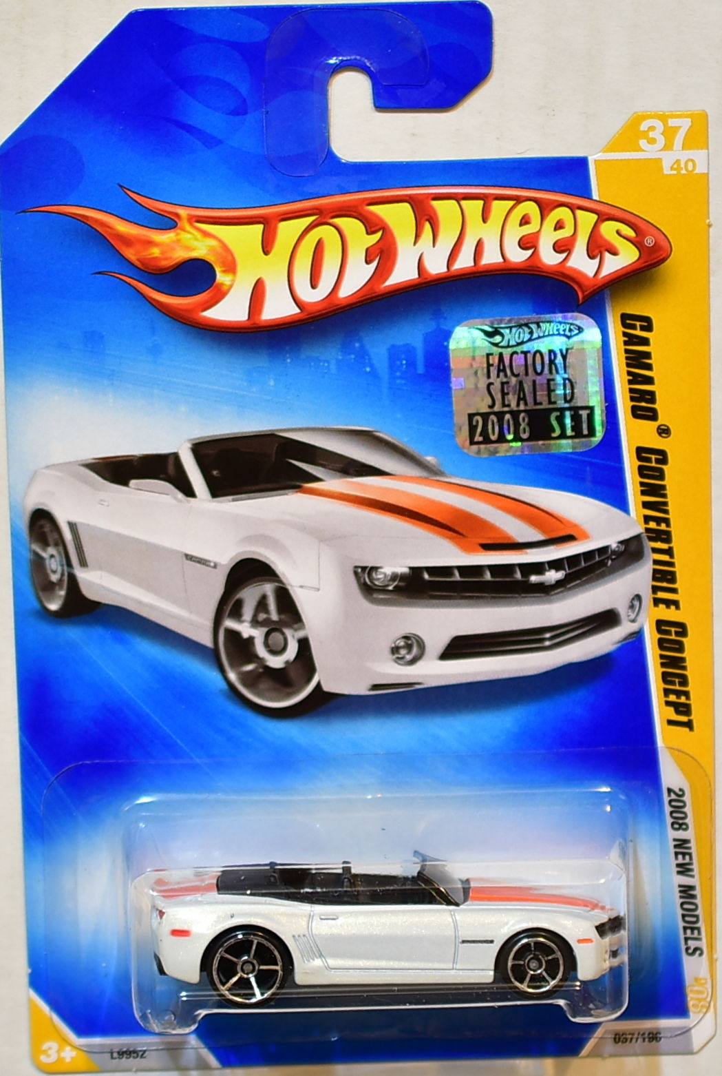 HOT WHEELS 2008 NEW MODELS CAMARO CONVERTIBLE CONCEPT WHITE FACTORY SEALED