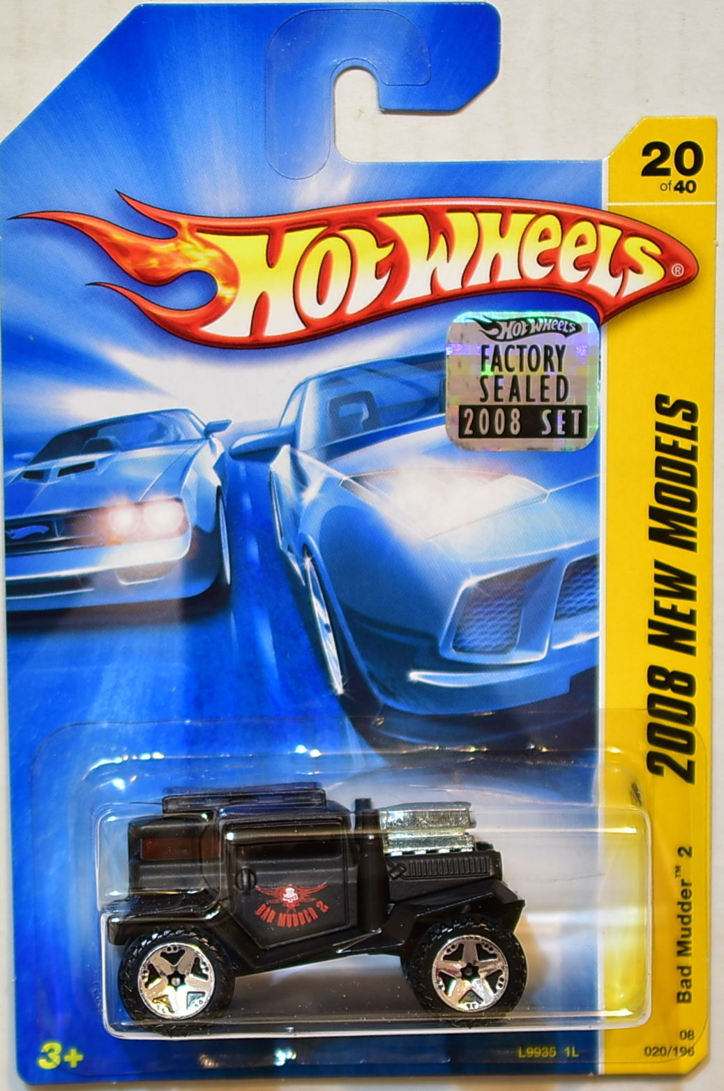 HOT WHEELS 2008 NEW MODELS BAD MUDDER 2 #20/40 BLACK FACTORY SEALED