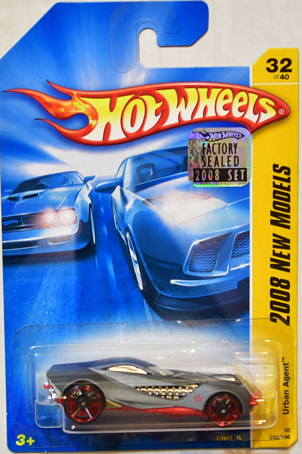 HOT WHEELS 2008 NEW MODELS URBAN AGENT #32/40 GRAY FACTORY SEALED