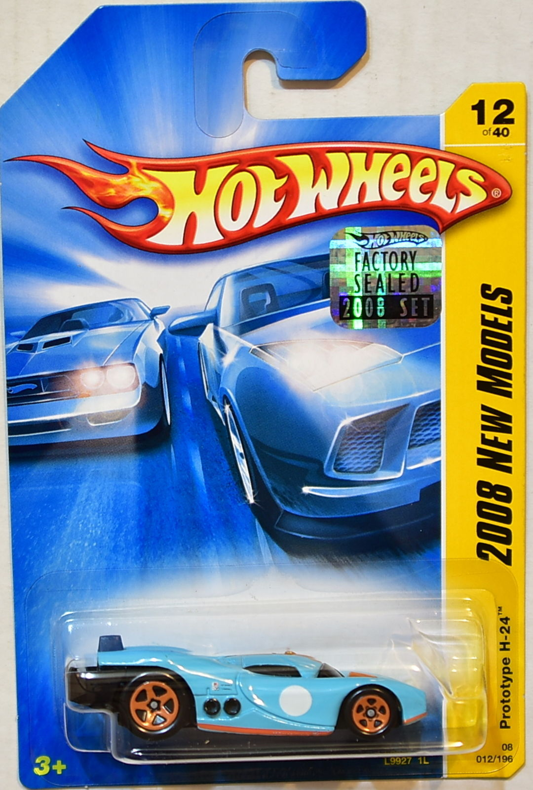 HOT WHEELS 2008 NEW MODELS PROTOTYPE H-24 #12/40 BLUE FACTORY SEALED