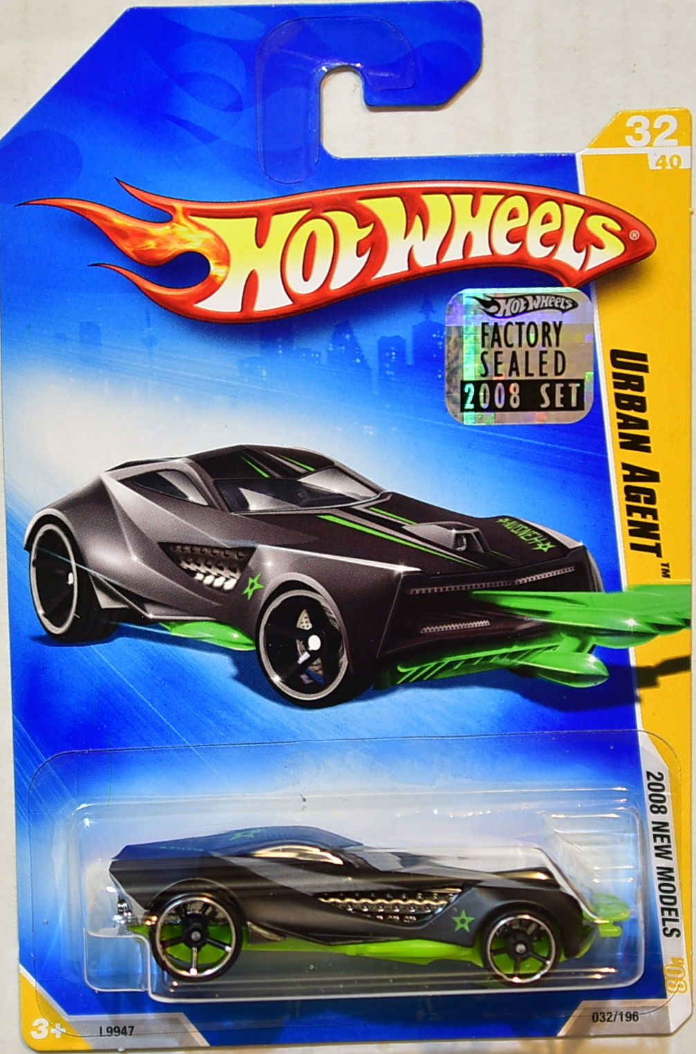 HOT WHEELS 2008 NEW MODELS URBAN AGENT FACTORY SEALED