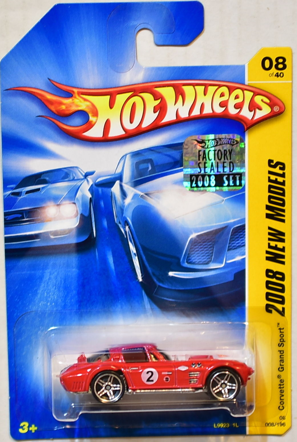 HOT WHEELS 2008 NEW MODELS CORVETTE GRAND SPORT #08/40 RED FACTORY SEALED