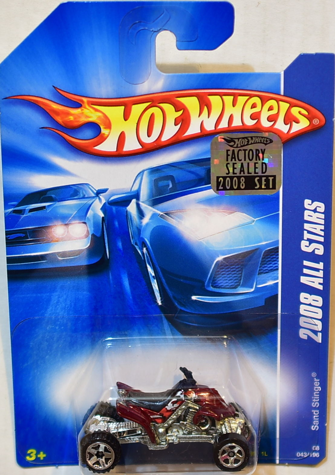 HOT WHEELS 2008 ALL STARS SAND STINGER RED FACTORY SEALED