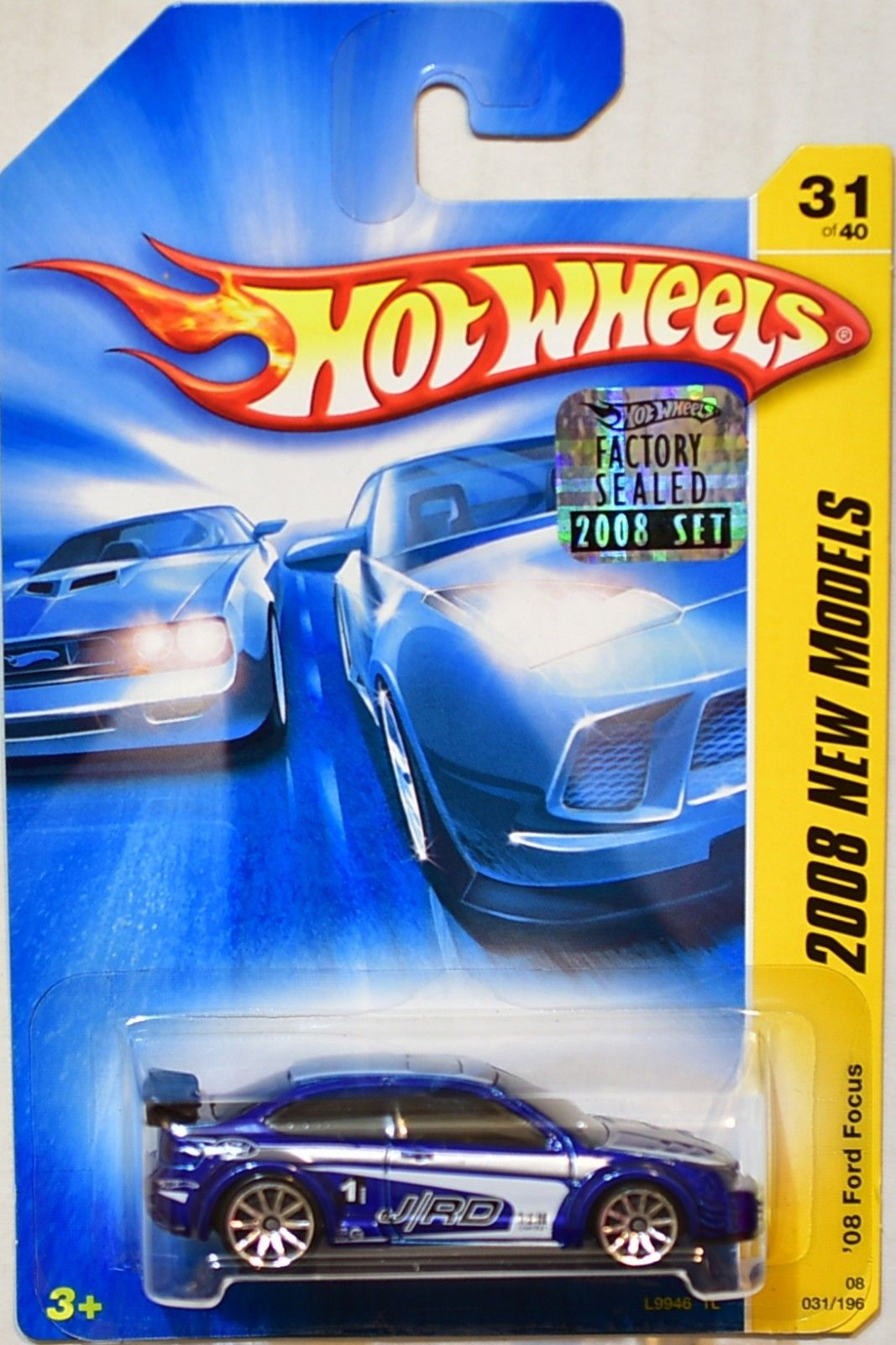 HOT WHEELS 2008 NEW MODELS '08 FORD FOCUS #31/40 BLUE FACTORY SEALED