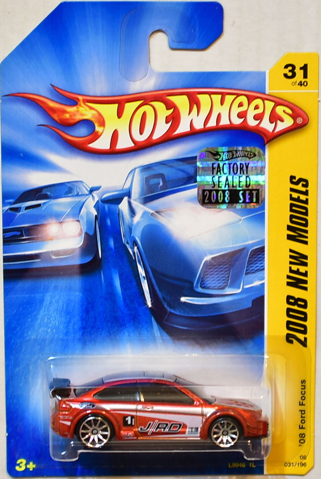 HOT WHEELS 2008 NEW MODELS '08 FORD FOCUS #31/40 ORANGE FACTORY SEALED