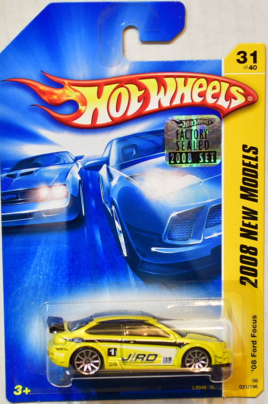 HOT WHEELS 2008 NEW MODELS '08 FORD FOCUS #31/40 YELLOW FACTORY SEALED