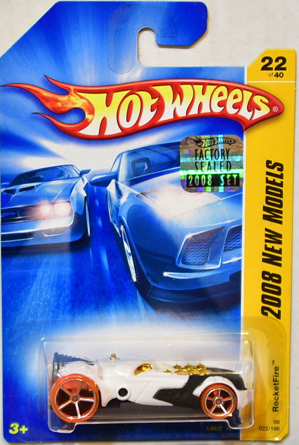 HOT WHEELS 2008 NEW MODELS ROCKETFIRE #22/40 WHITE FACTORY SEALED