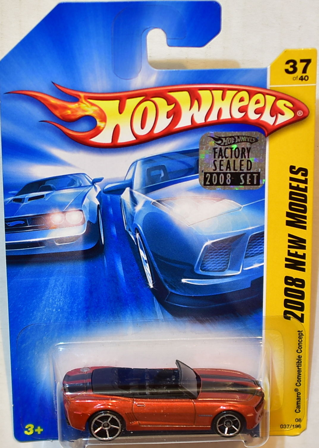 HOT WHEELS 2008 NEW MODELS CAMARO CONVERTIBLE CONCEPT RED FACTORY SEALED