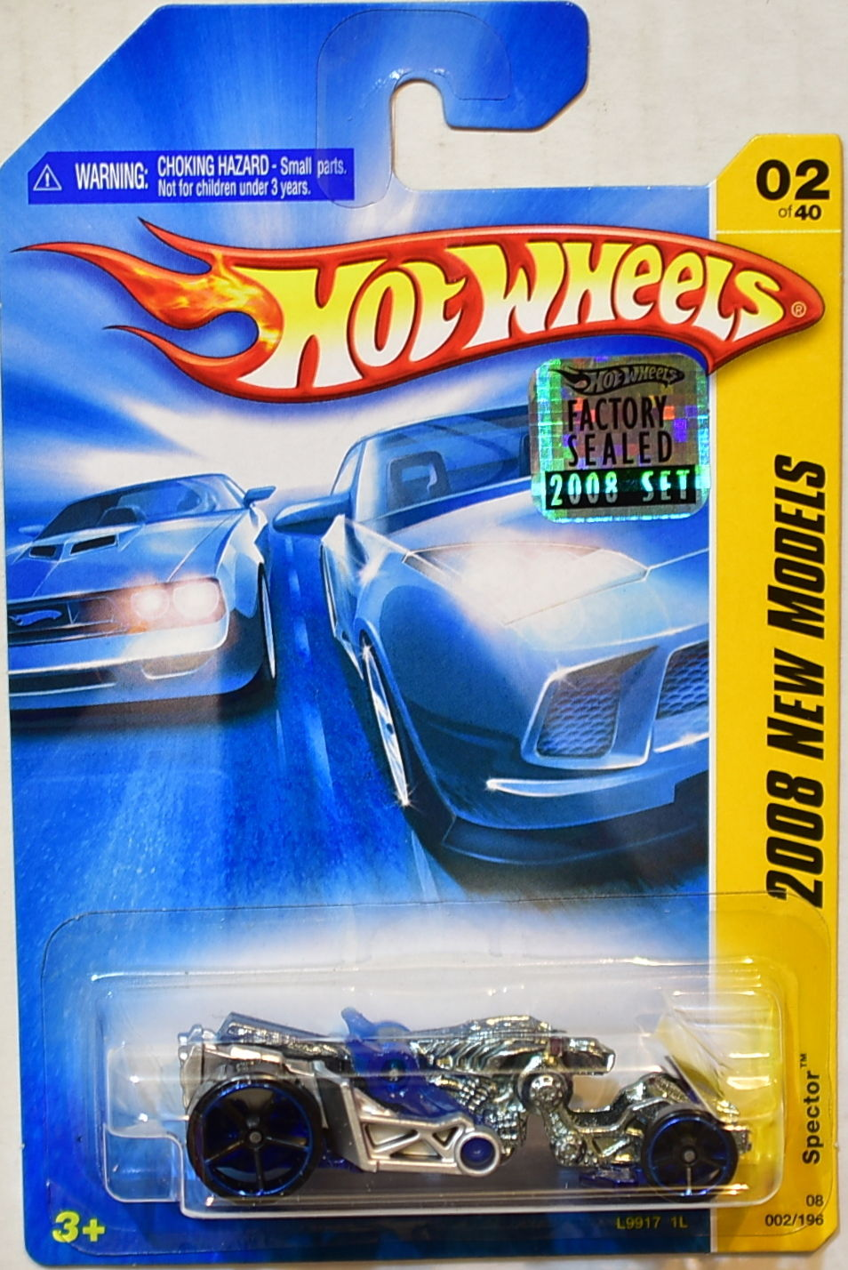 HOT WHEELS 2008 NEW MODELS SPECTOR #02/40 BLUE FACTORY SEALED