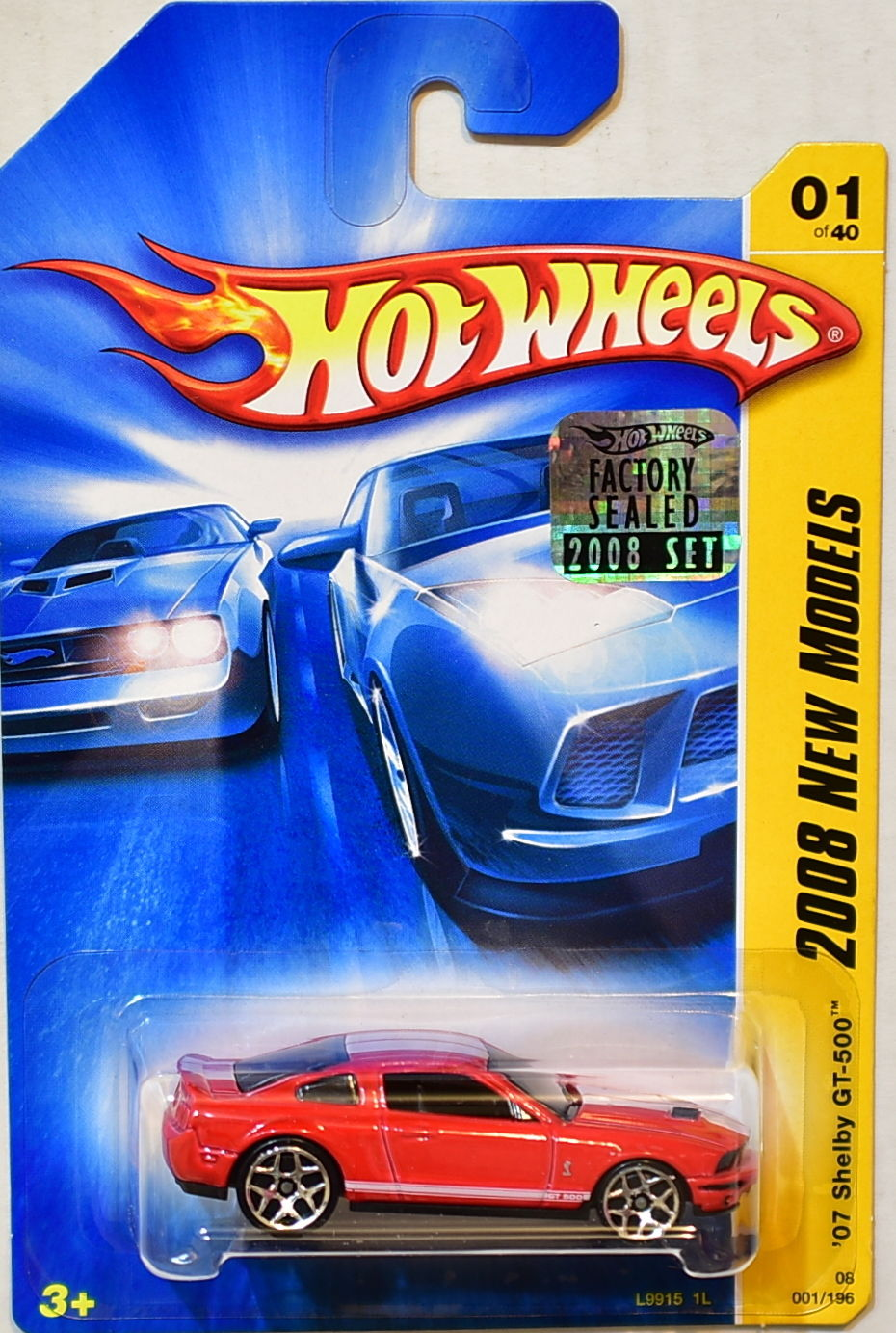 HOT WHEELS 2008 NEW MODELS '07 SHELBY GT-500 #01/40 RED FACTORY SEALED
