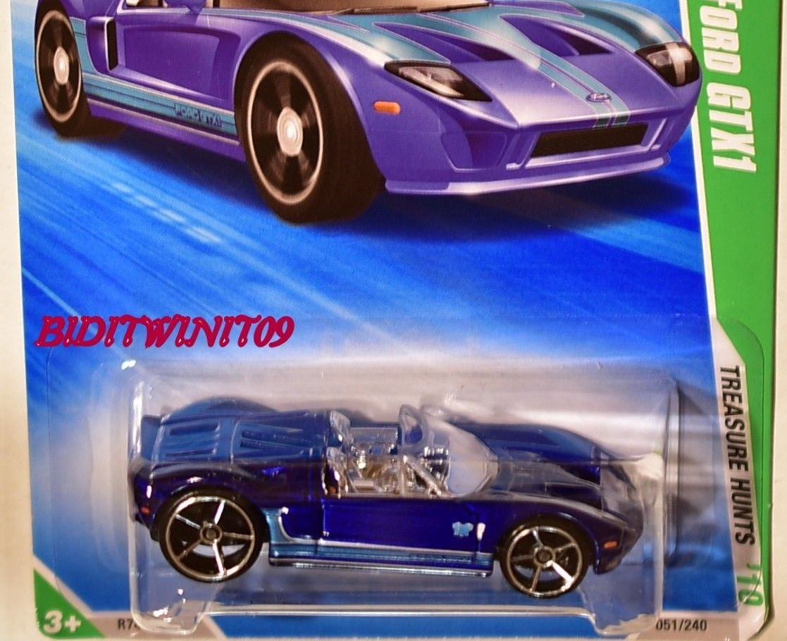 HOT WHEELS 2010 REGULAR TREASURE HUNT FORD GTX1 #07/12