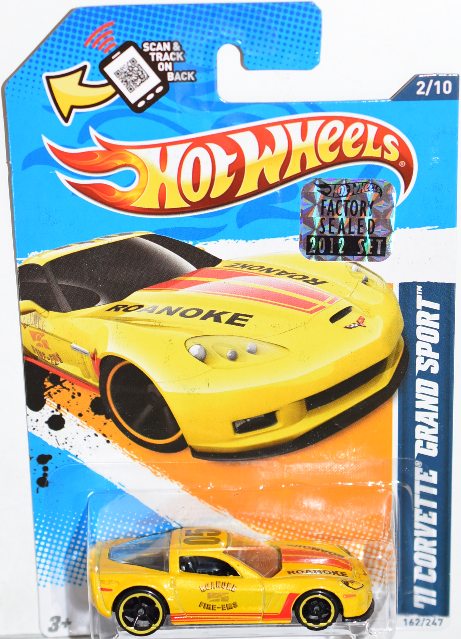 HOT WHEELS 2012 '11 CORVETTE GRAND SPORT TOY R US EXCLUSIVE FACTORY SEALED