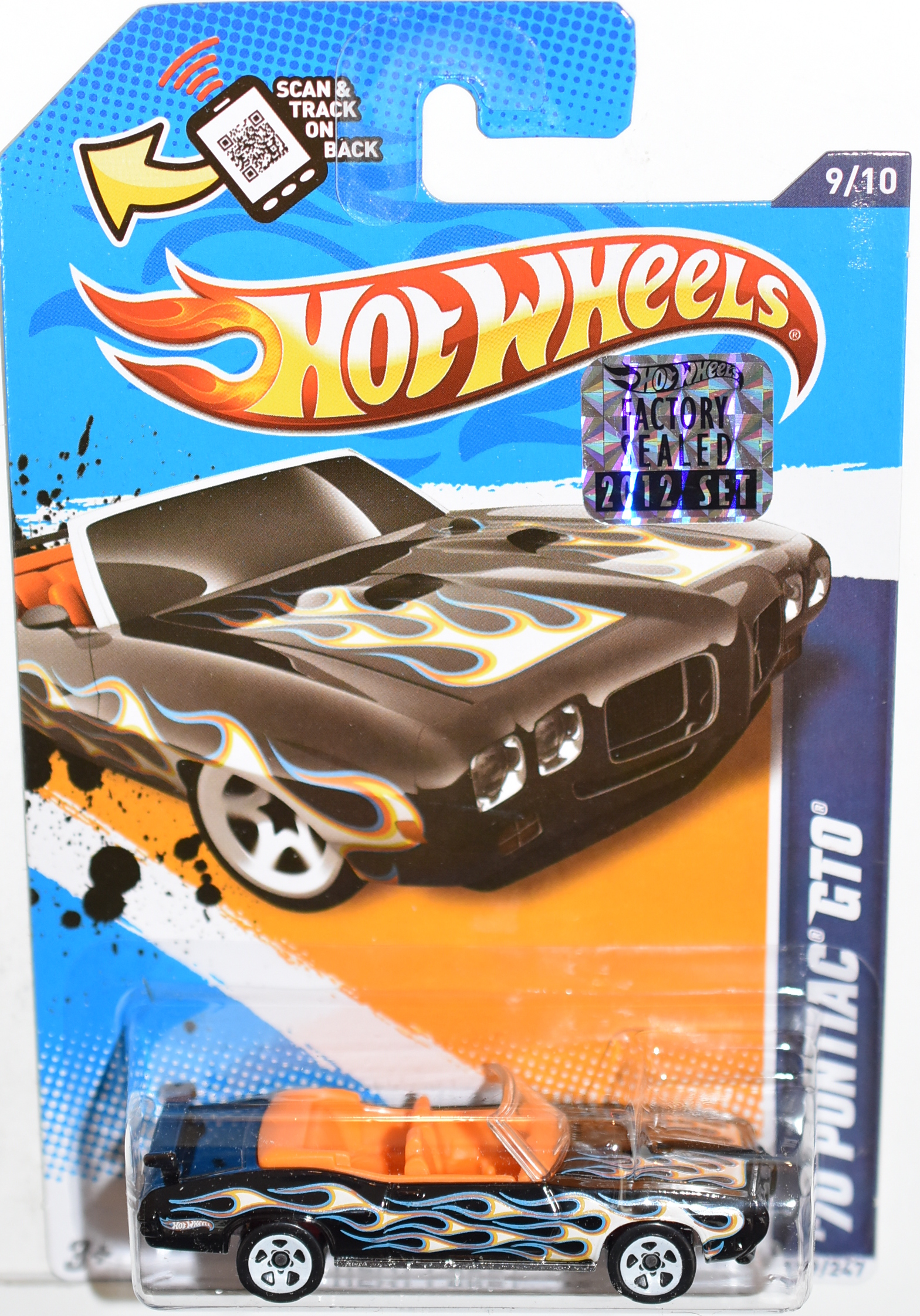 HOT WHEELS 2012 '70 PONTIAC GTO FACTORY SEALED