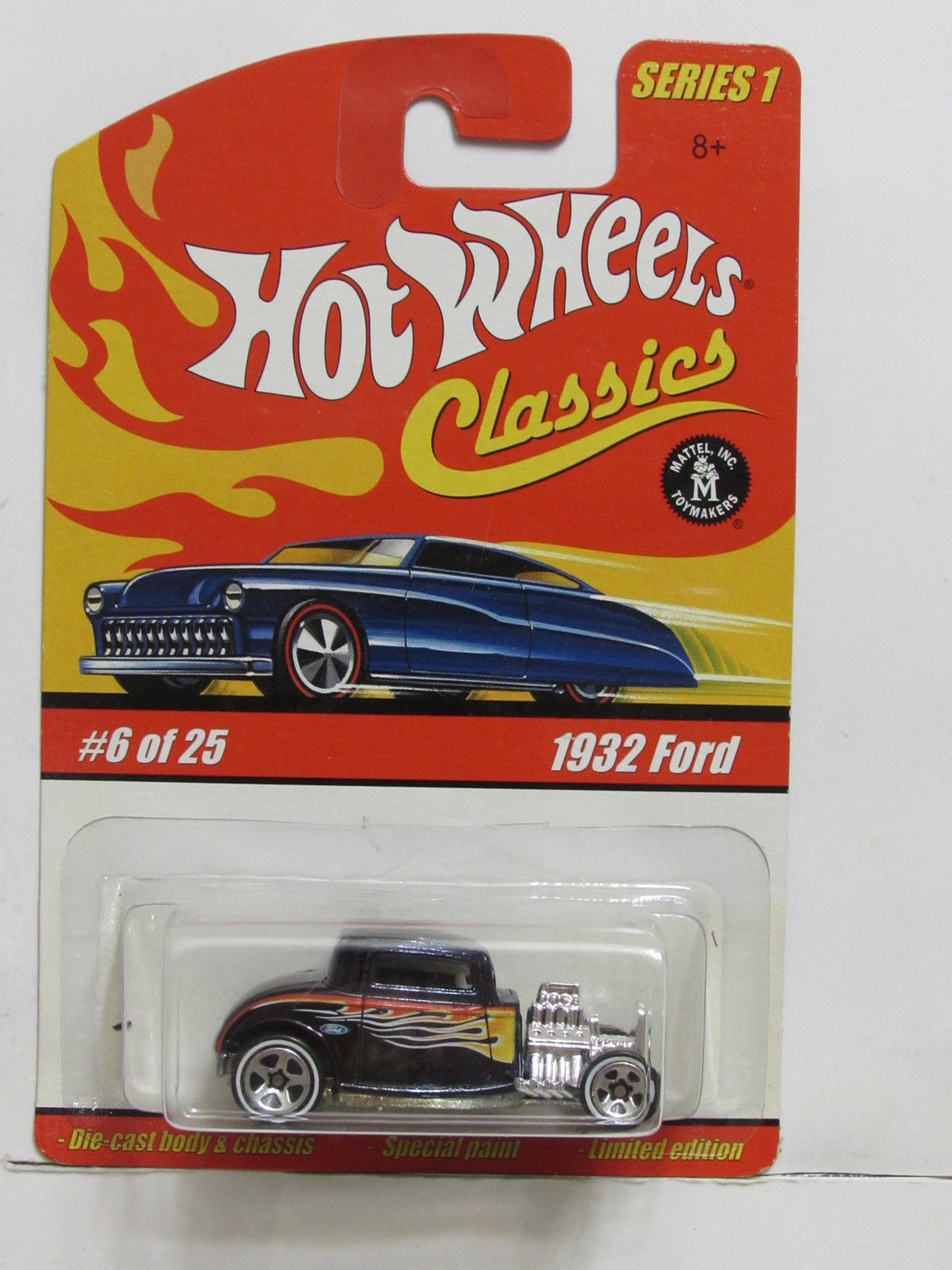 HOT WHEELS CLASSICS SERIES 1 #6/25 1932 FORD GRAY