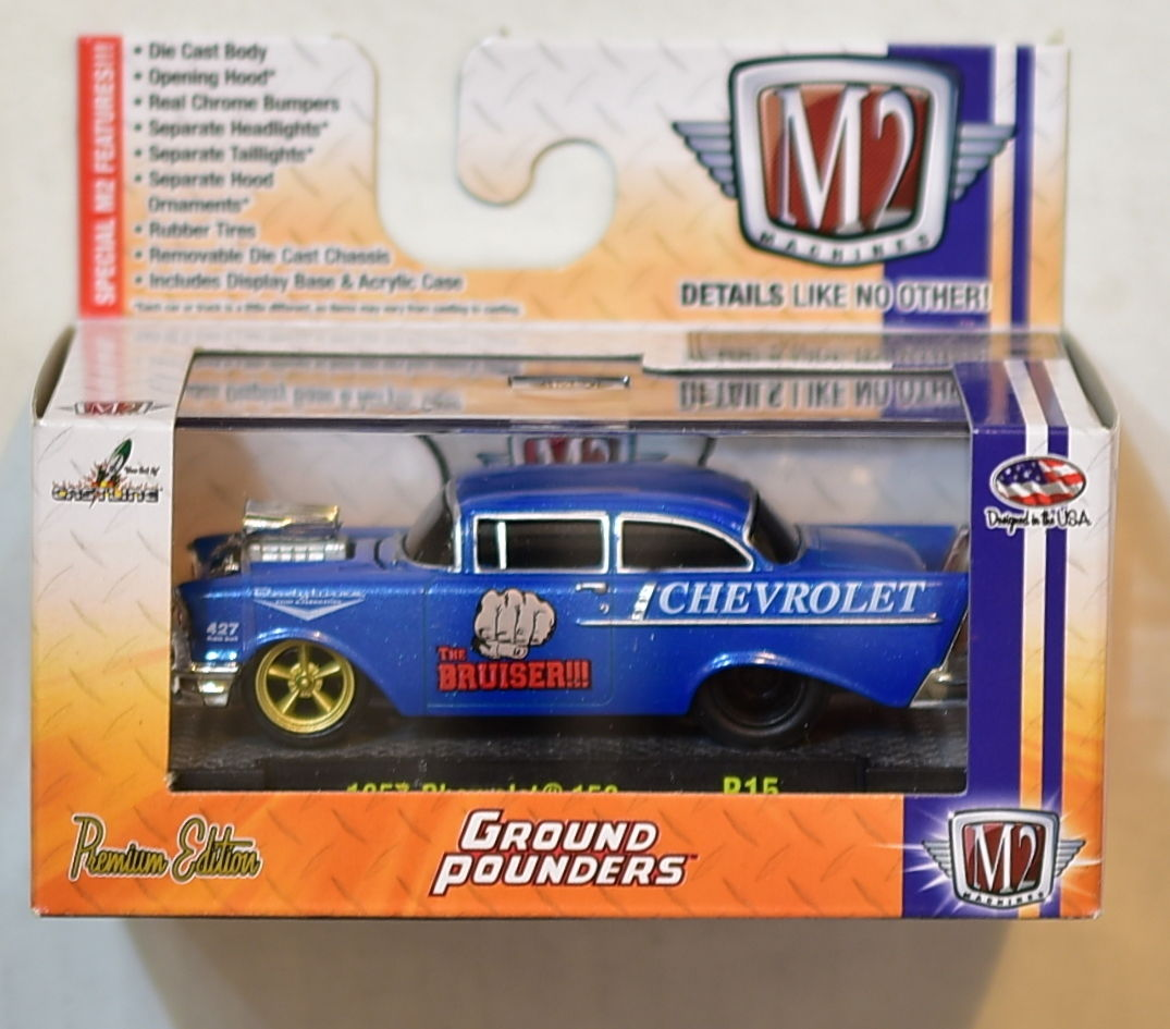 M2 MACHINES GROUND POUNDERS 1957 CHEVROLET 150 R15