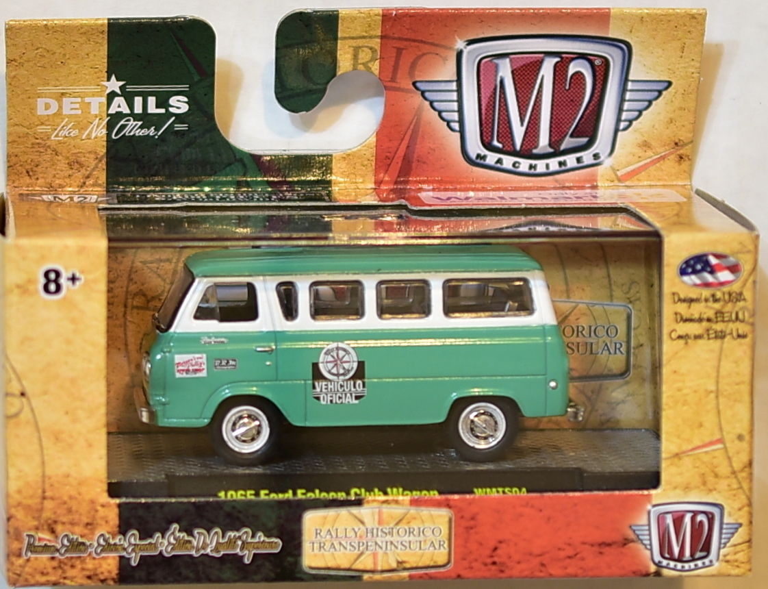 M2 machines walmart 1965 ford falcon club wagon wmts04