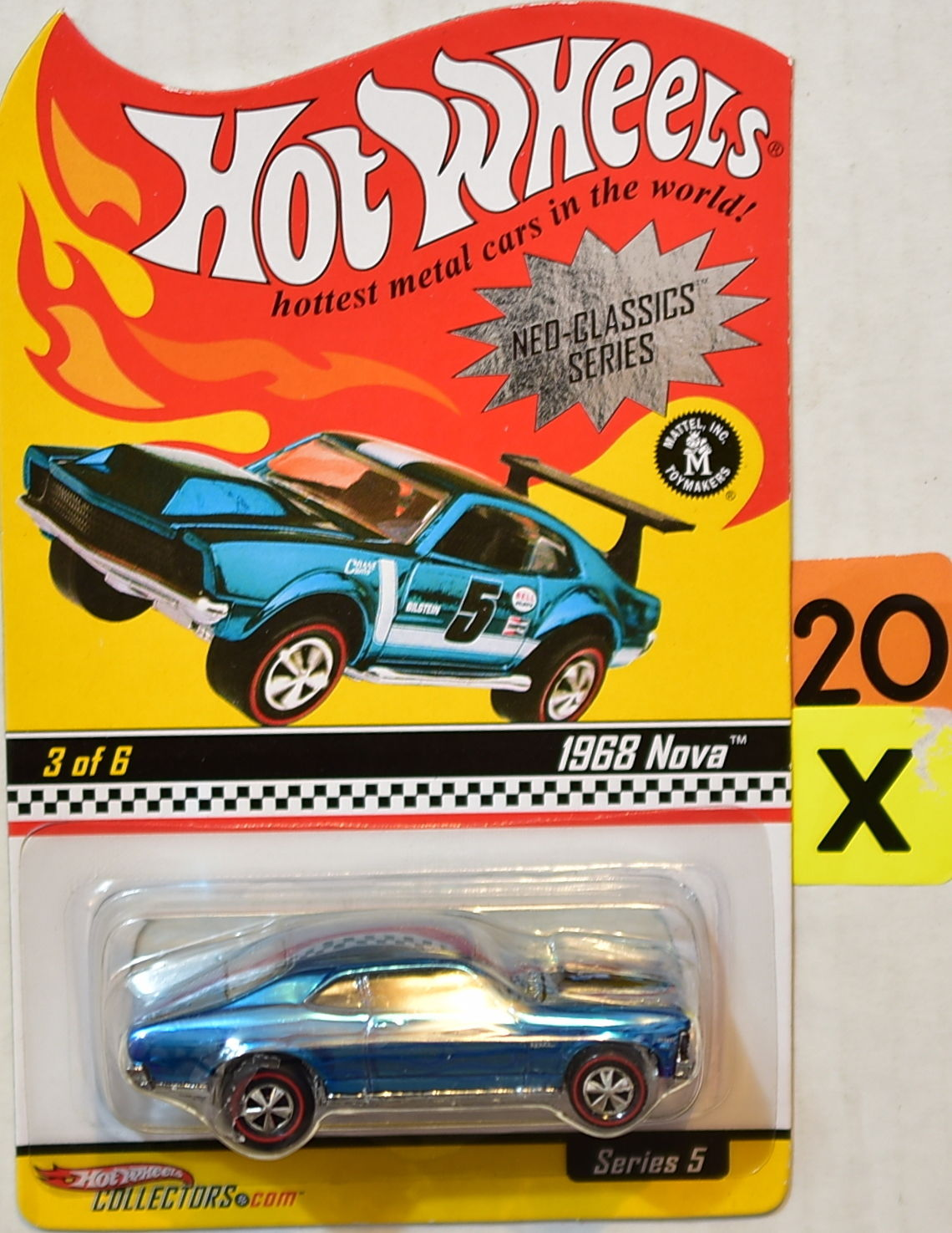 HOT WHEELS NEO-CLASSICS SERIES 5 #3 OF 6 1968 NOVA