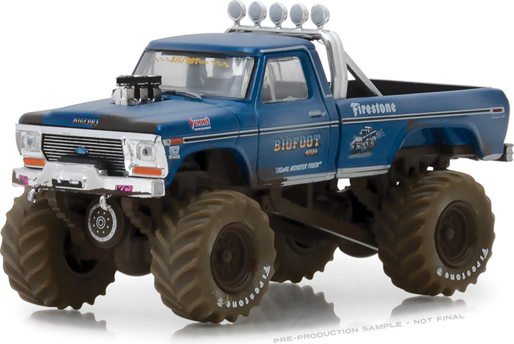 GREENLIGHT KINGS OF CRUNCH SERIES 1 - BIGFOOT #1 - 1974 FORD F-250 MONSTER TRUCK (DIRTY VERSION) PRE-ORDER