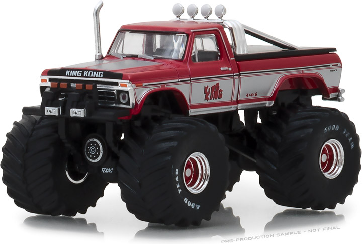 GREENLIGHT KINGS OF CRUNCH SERIES 1 - KING KONG - 1975 FORD F-250 MONSTER TRUCK