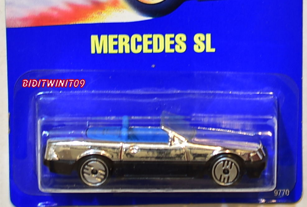 HOT WHEELS 1990 - 1991 BLUECARD MERCEDES SL CHROME E+