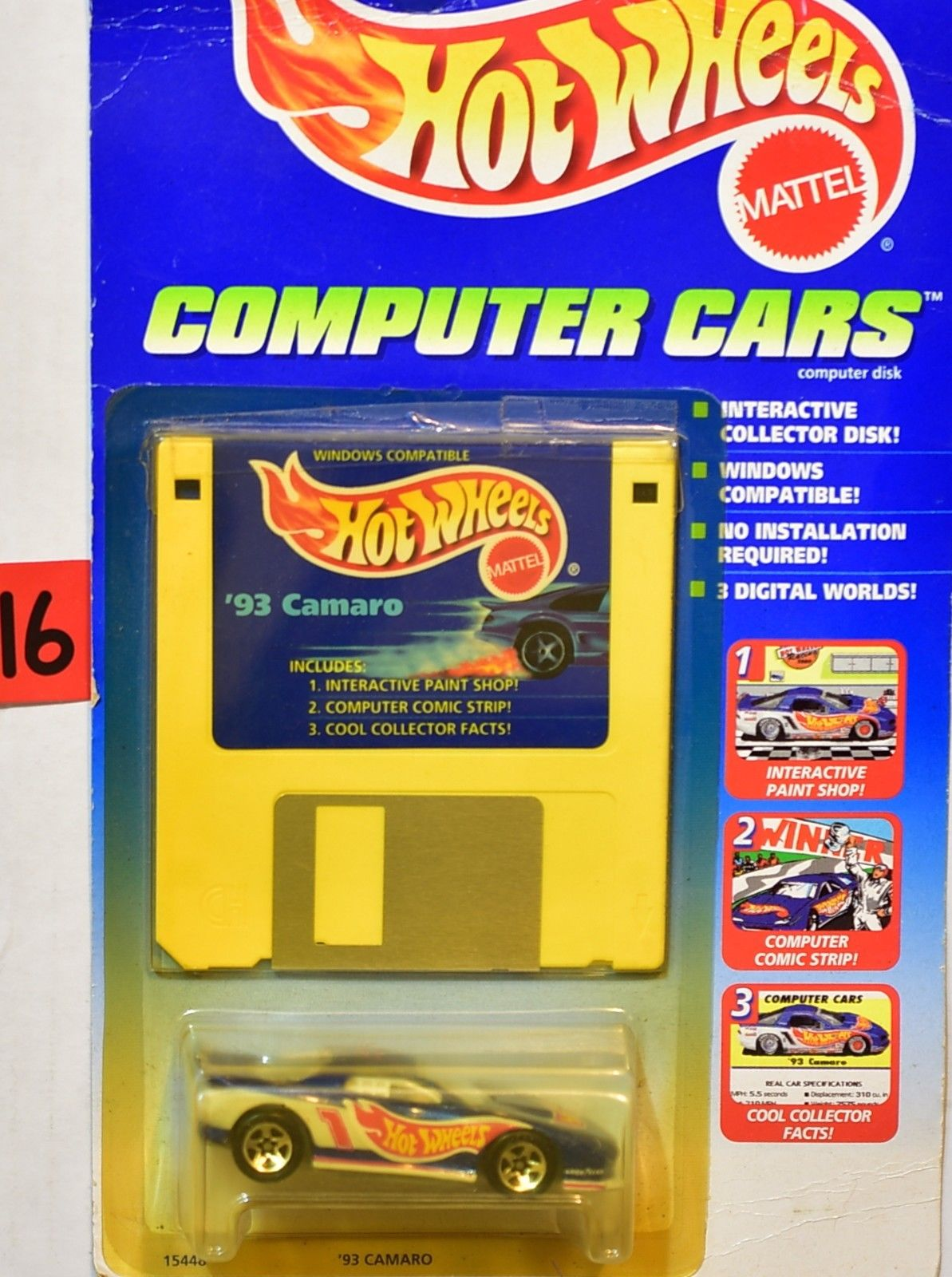 HOT WHEELS 1995 COMPUTER CARS '93 CAMARO