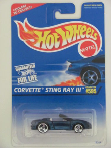 HOT WHEELS 1996 CORVETTE STING RAY III #595 W/ 3 SPK