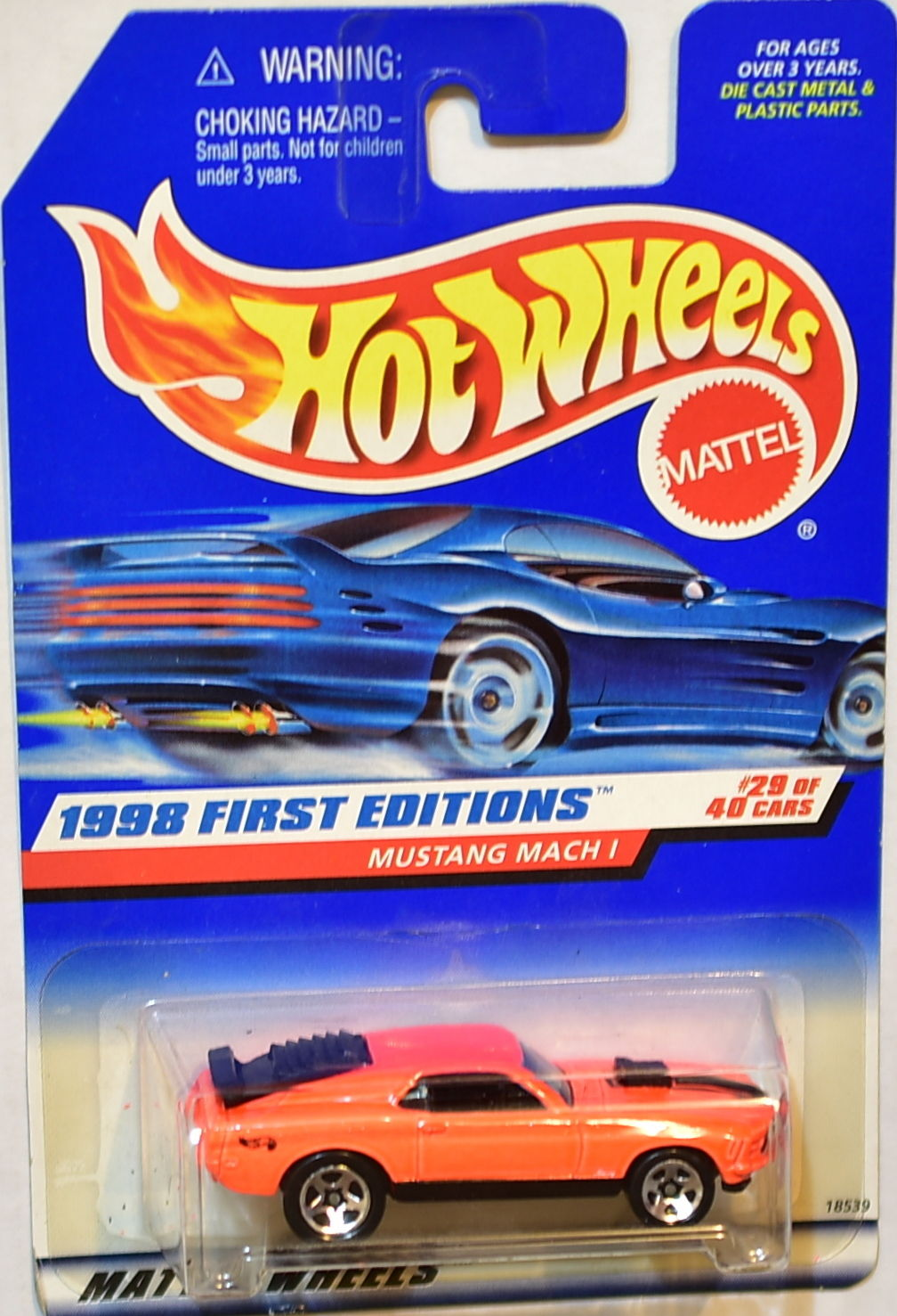 HOT WHEELS 1998 FIRST EDITIONS #29/40 MUSTANG MACH 1 ORANGE