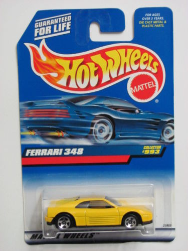 HOT WHEELS 1999 FERRARI 348 #993 YELLOW