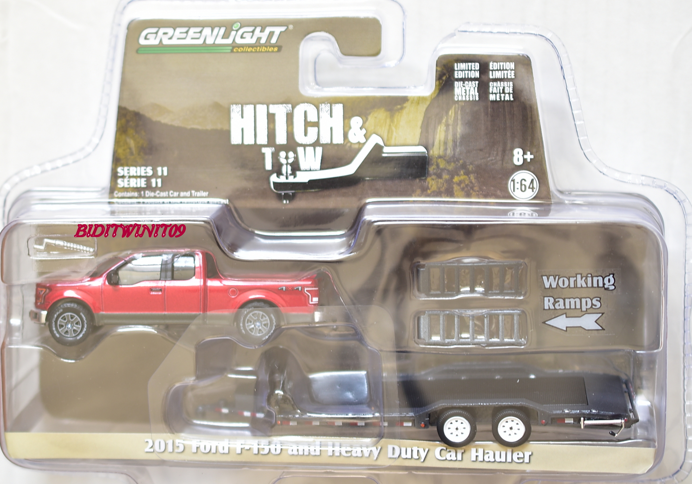 GREENLIGHT HITCH & TOW 2015 FORD F-150 AND HEAVY DUTY CAR HAULER SERIES11