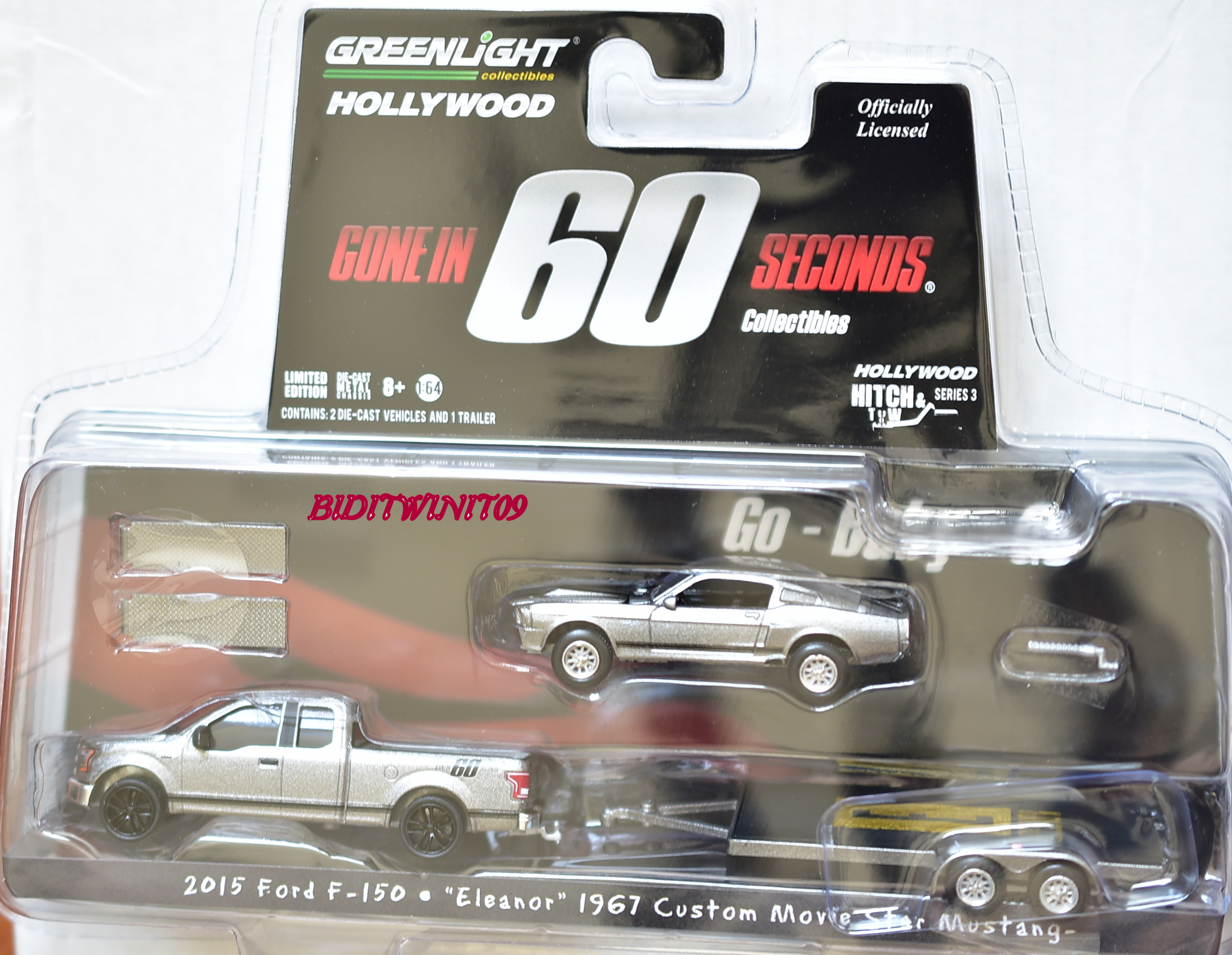 GREENLIGHT 2015 FORD F-150 ELEANOR 1967 MUSTANG GONE IN 60 SECONDS