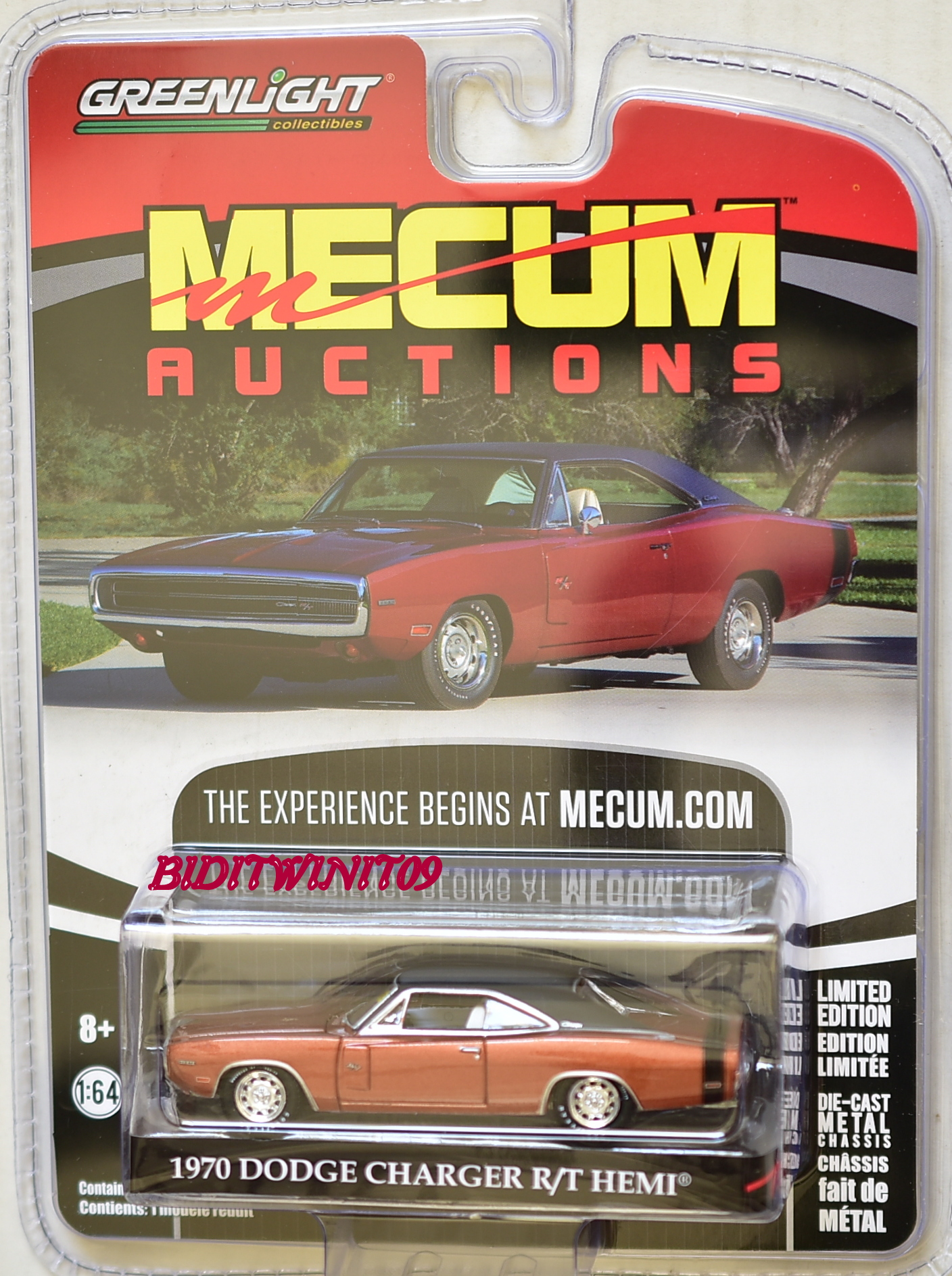 GREENLIGHT 2017 MECUM AUCTIONS 1970 DODGE CHARGER R/T HEMI