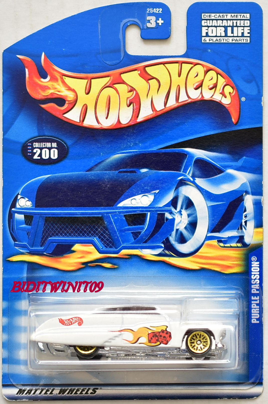 HOT WHEELS 2000 PURPLE PASSION #200 WHITE